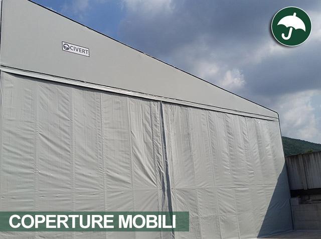 Coperture mobili in Campania: coperture laterali PVC