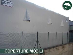 coperture mobili laterali in pvc in Toscana per il settore meccanica di precisione