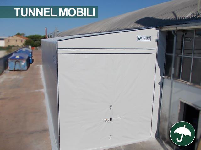 Tunnel mobile laterale monopendenza modello Monoside Civert