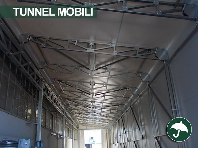 tunnel mobili ignifughi pvc