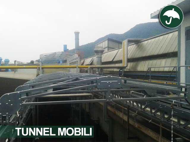 Struttura di un tunnel mobile in pvc Civert
