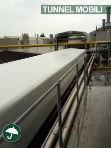 tunnel mobili pvc per il settore metalmeccanico