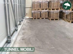 tunnel mobili pvc retrattili