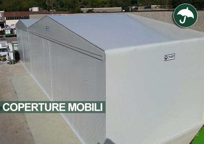 Due coperture mobili in PVC affiancate Civert
