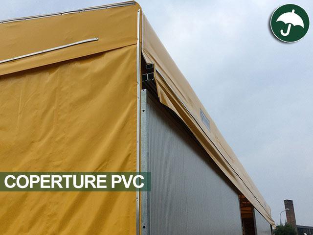 guide scorrimento su capannone mobile in pvc