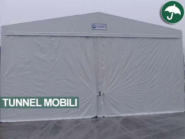 Tunnel mobile con copertura in pvc Civert