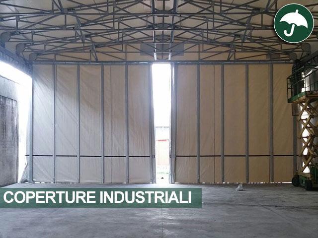 dettaglio tende scorrevoli copertura industriale
