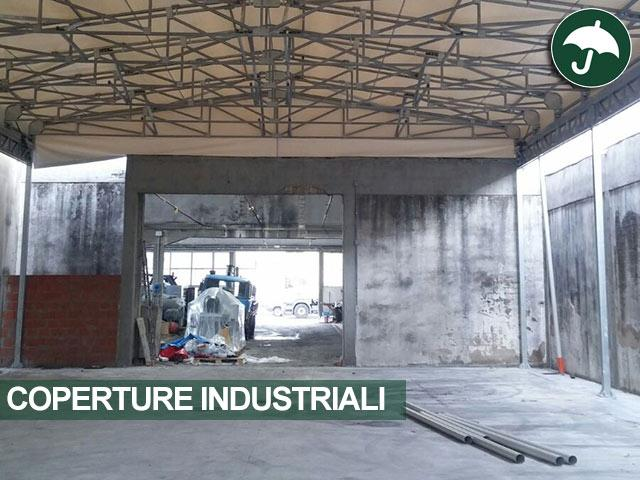 coperture industriali aperte su tre lati