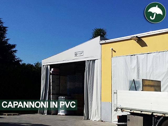 capannone in pvc monopendenza