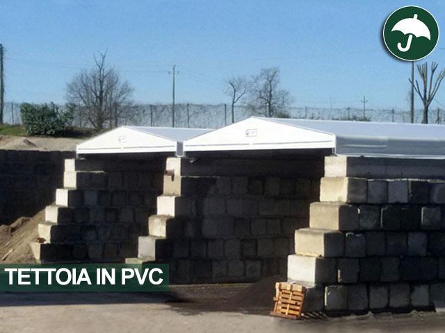 Due tettoie in pvc bipendenza modello Biroof Civert