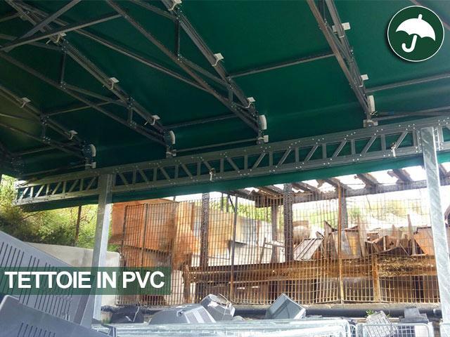 Tettoie pvc realizzate a Roma per N.I.ECO Spa