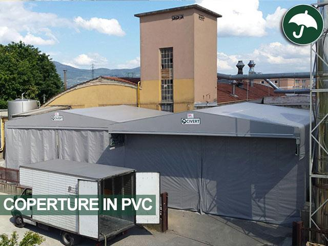 Due tettoie bipendenza modello Biroof Civert