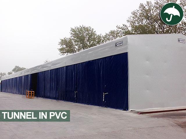 Tunnel in pvc realizzato per Profilglass S.p.A.