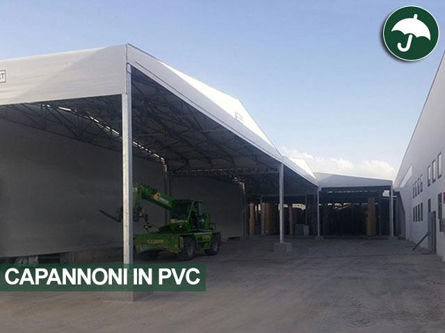 Tre tettoie in pvc modello Biroof Civert