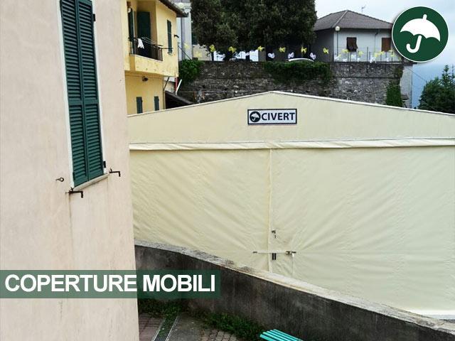 Copertura mobile in pvc modello Biroof Civert