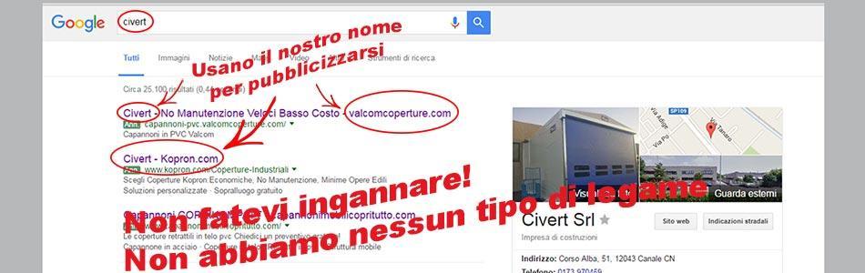 Ricerca adwords concorrenti Civert