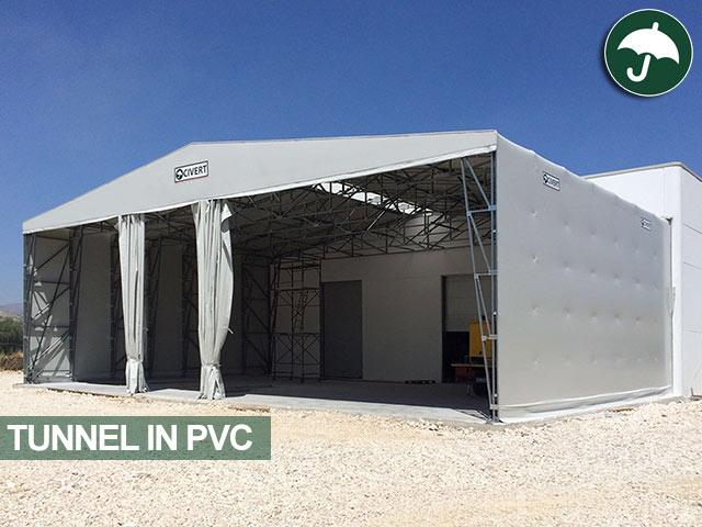 Tunnel frontale in pvc modello Long Civert