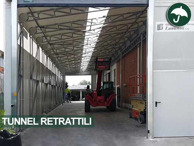 dettaglio accessori tunnel retrattile in pvc bologna