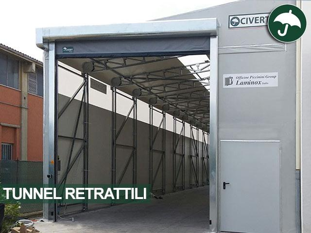 tunnel retrattili in pvc provincia di bologna