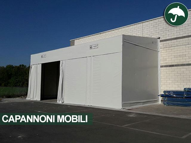 Capannone mobile monopendenza Monoroof Civert