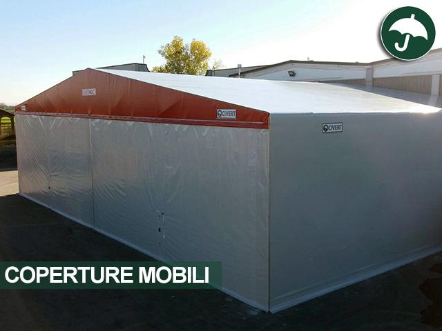 coperture mobili per dkc sede di novara, capannone frontale LONG.