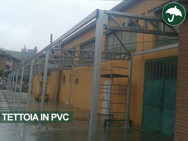 struttura tettoia in pvc a Canale(CN)