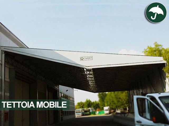 Tettoia mobile copertura monopendenza Monoside Civert