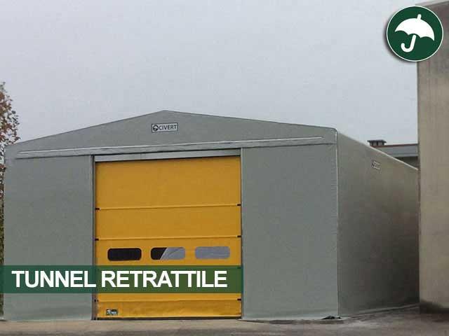 Tunnel retrattile modello Only Civert con porta rapida Pack