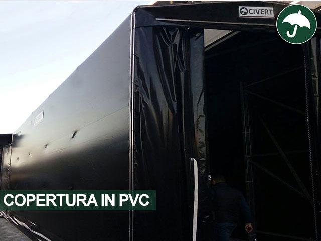 Copertura in pvc tunnel mobile modello Long Civert