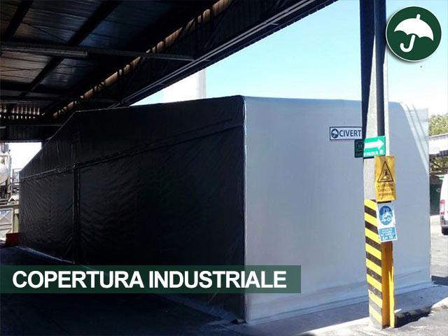 copertura industriale sotto a tettoia