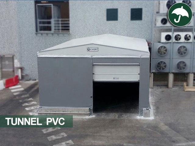 tunnel pvc civert con porta rapida