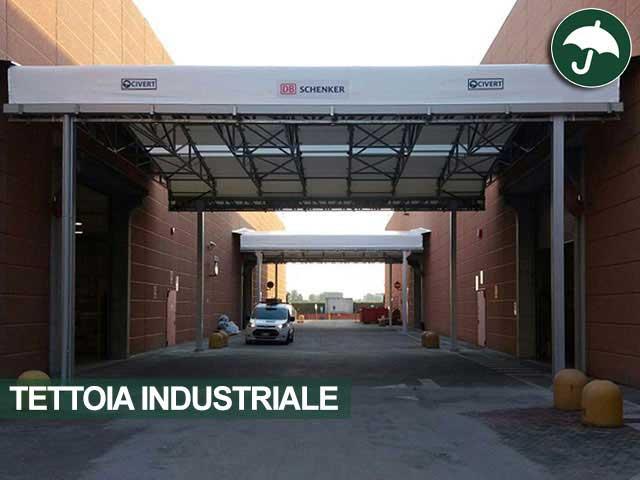 tettoia industriale per Shenker