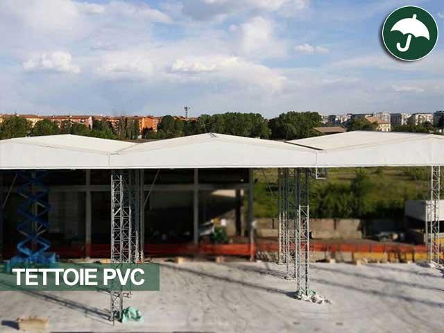 Tettoie in pvc modello Biroof struttura bifalda sospesa Civert