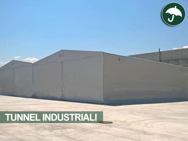 Due tunnel industriali affiancati modello Odd Civert