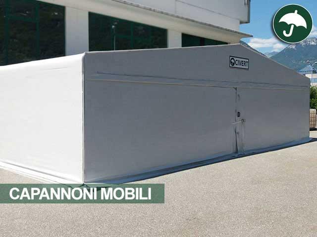 Capannone mobile in pvc modello Long Civert