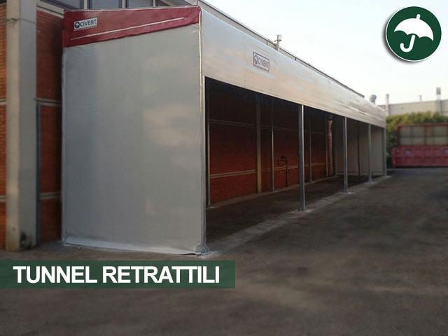 Tunnel retrattile modello Monoroof Civert