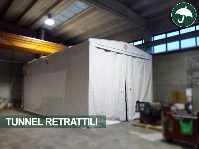Tunnel retrattile in pvc modello frontale Civert