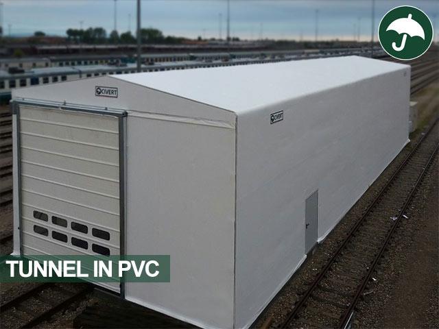 Tunnel in pvc modello Only Civert con porta Pack