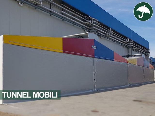 Due tunnel mobili affiancati in pvc Civert