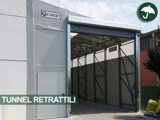 Tunnel retrattile in pvc modello Monoside Civert