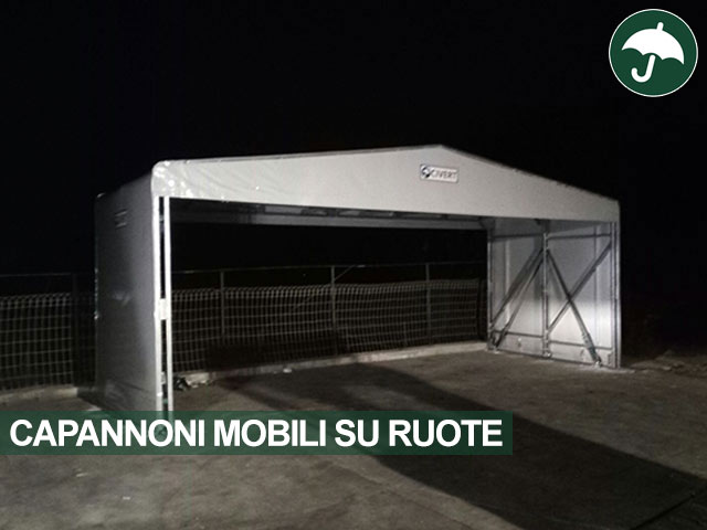 Capannone mobile su ruote indipendente Only Civert