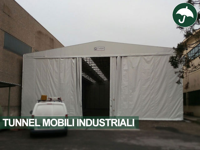 Tunnel mobile industriale autoportante Only