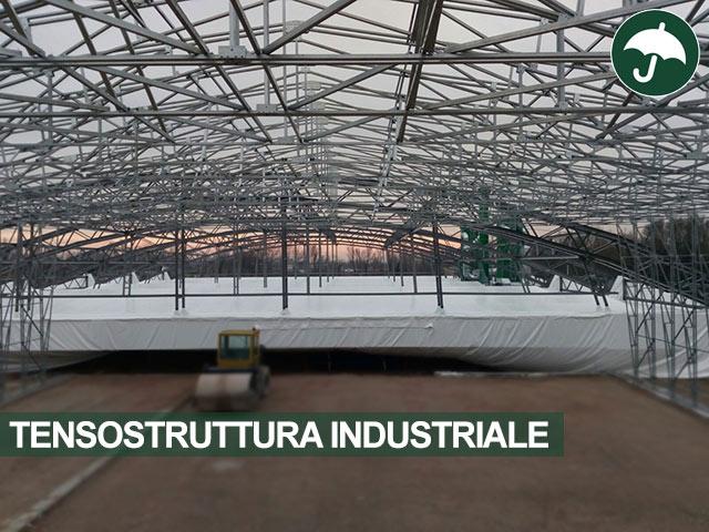 interno tensostruttura industriale