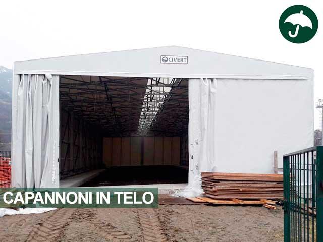 capannoni in telo pvc