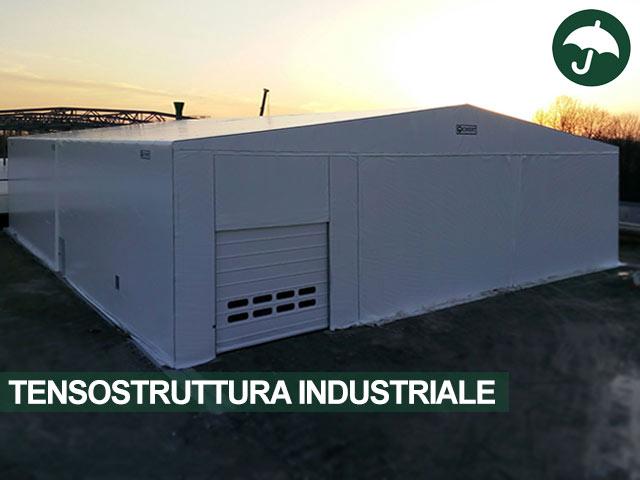 Tensostruttura industriale Civert con porta rapida Pack