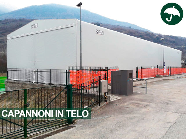 Copertura in telo pvc tipologia Only