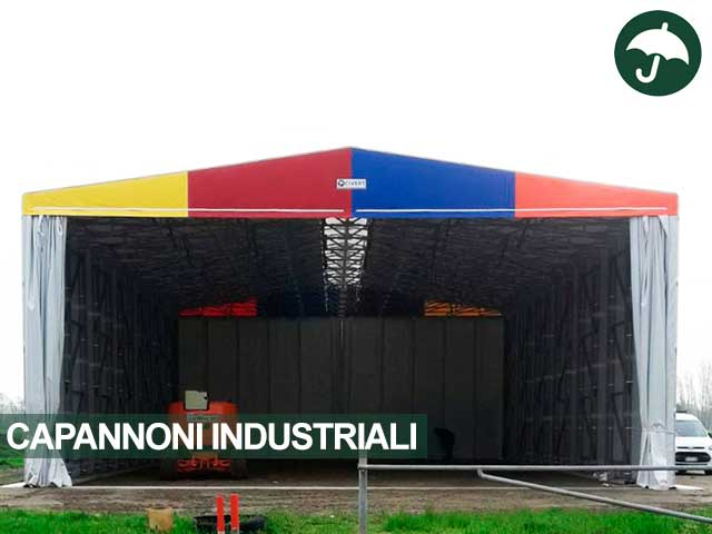 Capannone industriale copertura mobile indipendente Only Civert