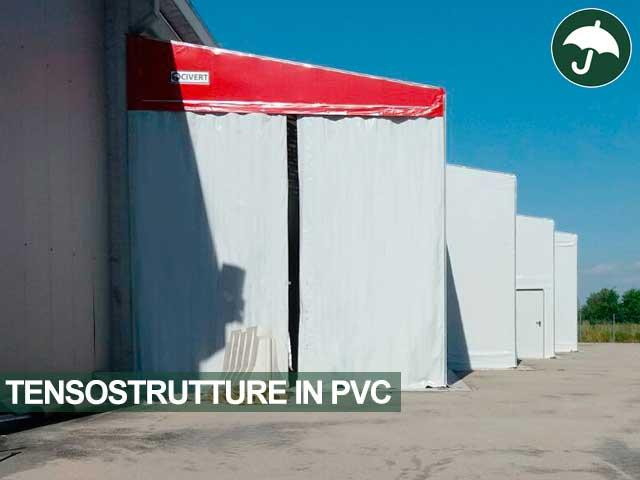 tensostrutture pvc laterali magazzino