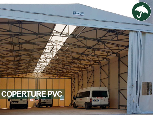 Copertura in pvc mobile indipendente Only Civert