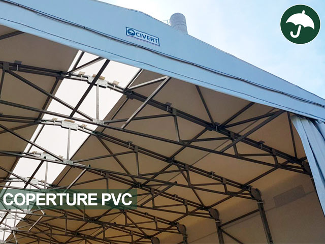 copertura per tettoie pvc mobili